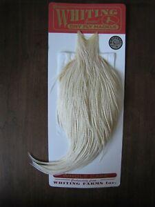 Angelsport-Fliegen-Bindematerialien Fly Tying Whiting Silver Rooster Midge Saddle White #D Angelsport-Köder, -Futtermittel & -Fliegen