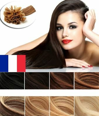 50/100/200 Extensions Cheveux Pose A Chaud Remy Naturels 49-60cm 0,5g-1g Aaa Pro Other Hair Care & Styling