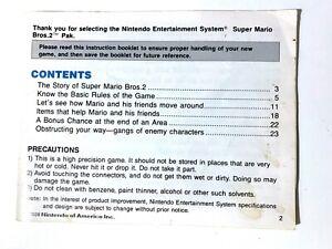 NES Super Mario Bros. 2 Nintendo Original Manual/Instruction Booklet!
