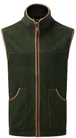 Men's ShooterKing Fleece Gilet Vest Green Hunting Shooting Fishing