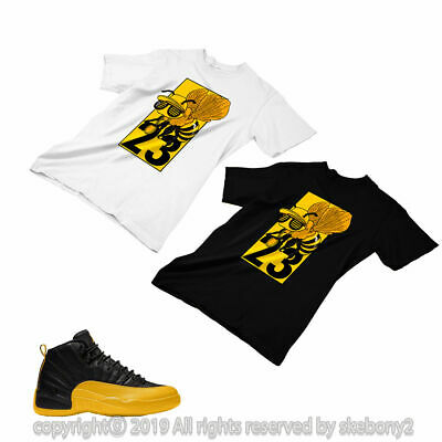 Custom T Shirt Matching Style Of Air Jordan 12 University Gold Jd
