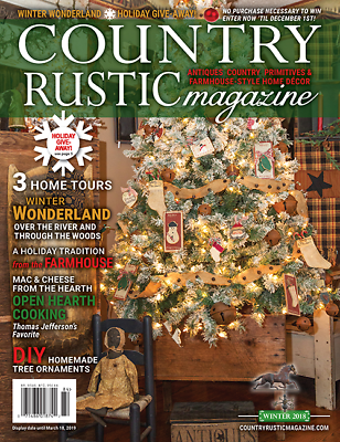 Country Rustic Magazine Holiday 2018 Issue Country Primitives Farmhouse Style Ebay