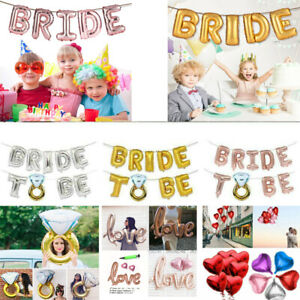 Bride-to-be-love-Heart-Diamond-Ring-Foil-Helium-Balloon-Engagement-Hen-Party-New
