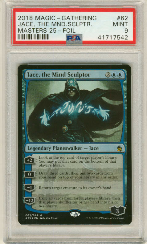 MAGIC MTG MASTERS 25 JACE, THE MIND SCULPTOR FOIL PSA 9 MINT