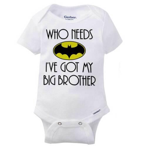 Hero Ive Got My Brother Gerber OnesieRole Model Older Superhero Baby Romper