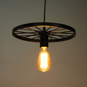 VINTAGE-STYLE-MODERN-CEILING-PENDANT-LIGHT-LAMP-SHADE-CHANDELIER-WHEEL-LIGHTS-UK