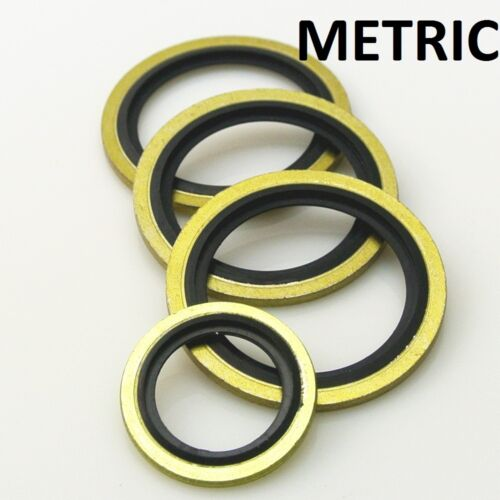 10 x M14 14mm METRIC Bonded Dowty Seal Self Centering Hydraulic Oil Seal Washer