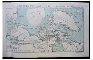 1926-Rasmussen-FIFTH-THULE-EXPEDITION-Eskimos-COLOR-MAP-Photos-2