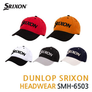 dd02bb012aa DUNLOP SRIXON 3D Logo Cap Golf Hat 5Colors SMH-6503 Adjustable ...