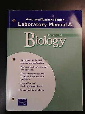 Prentice Hall Biology Lab Manual A Annotated Teacher S Edition EBay