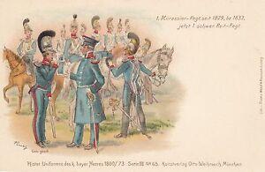 Militaer-Bayern-1-Kuerassier-Regiment-Farb-Litho-um-1900-05