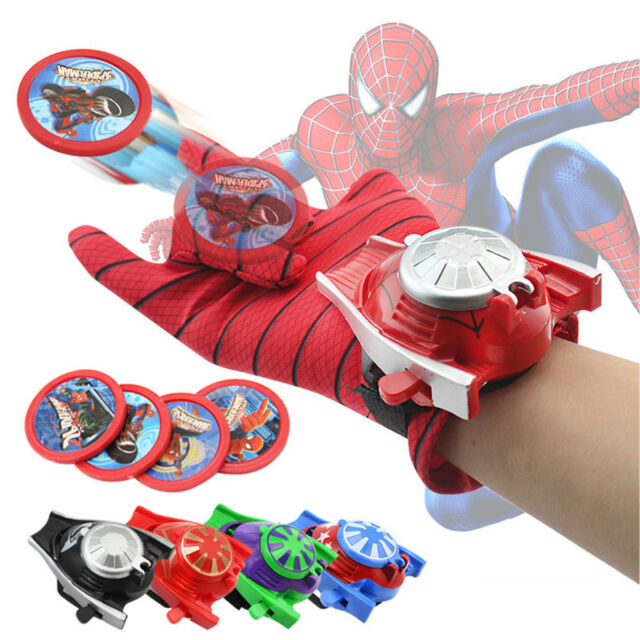 Superhero Launchers Gloves Batman Spiderman Cosplay Prop Kids Boy Toys 2020 Gift