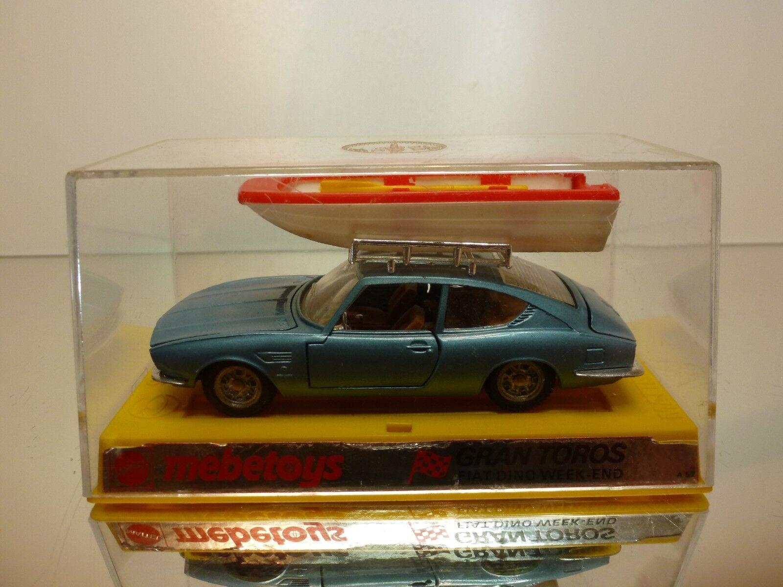 MEBETOYS A25 FIAT DINO COUPE WEEK-END - bleu 1 43 - GOOD CONDITION - IN BOX