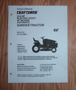craftsman 917 273080 lawn tractor owners manual with illustrated parts list ebay Sears Craftsman Garden Tractor Manual sears craftsman lawn tractor owner's manual