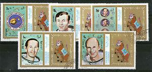 AgréAble Sharjah 1972 Nasa Astronautes D'apollo Lot De 5 Timbres Commémoratifs Cto