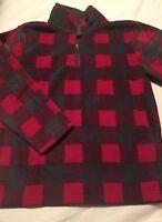 Gymboree Boys Sweatshirt Size 5-6 Fleece Red Black