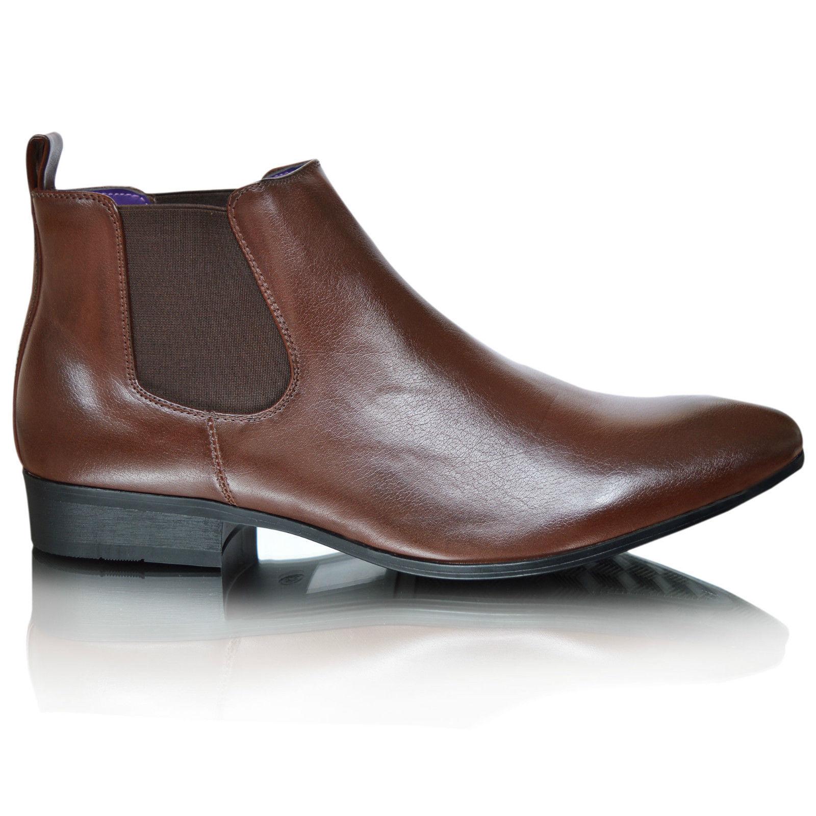 Homme en cuir doublé élégant formel lacets décontractées bottes 11 chaussures taille uk 6 7 8 9 10 11 bottes 93ce37