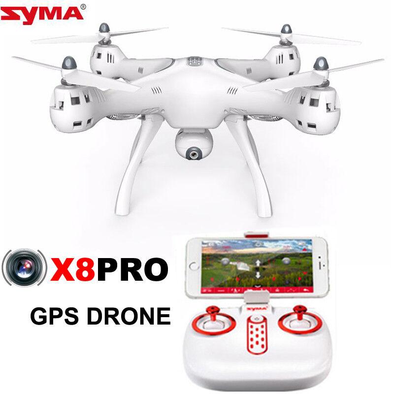 Syma X8 Pro GPS ESCOBILLAS Cuadricóptero RC RTF Wifi FPV 720p Cámara Altitud