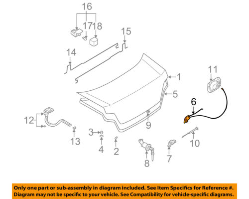 SUBARU OEM 04-07 Impreza Trunk-Lock or Actuator Latch Release 57530FE040