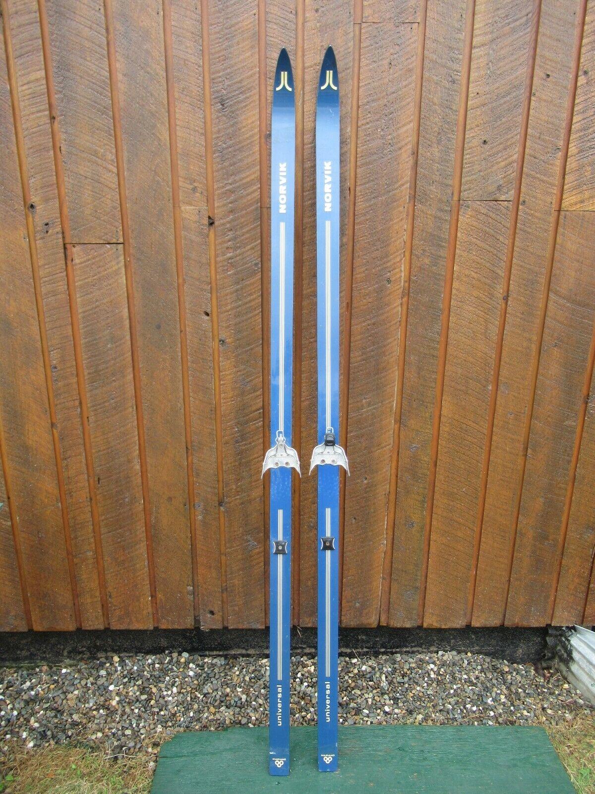 VINTAGE Wooden 73  Skis  Great For Decoration