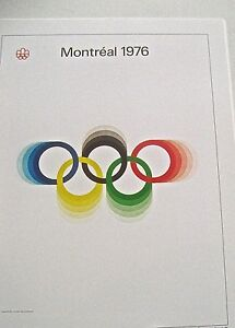 Olympic-Games-1976-Montreal-Canada-Official-Poster-Reprint-16x12-Offset-Litho