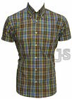 RETRO CLASSIC MOD Short Sleeve CHECK BUTTON DOWN SHIRTS by RELCO 100% Cotton
