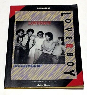 LOVERBOY LOVIN EVERY MINUTE OF IT JAPAN BAND SCORE SONG ...