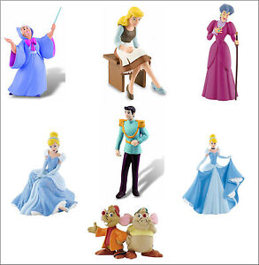 Official Bullyland Disney Cinderella Figures Figurines Toys Cake