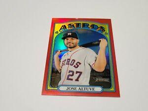2021 Topps Heritage Red Foil #/372 Jose Altuve Houston Astros