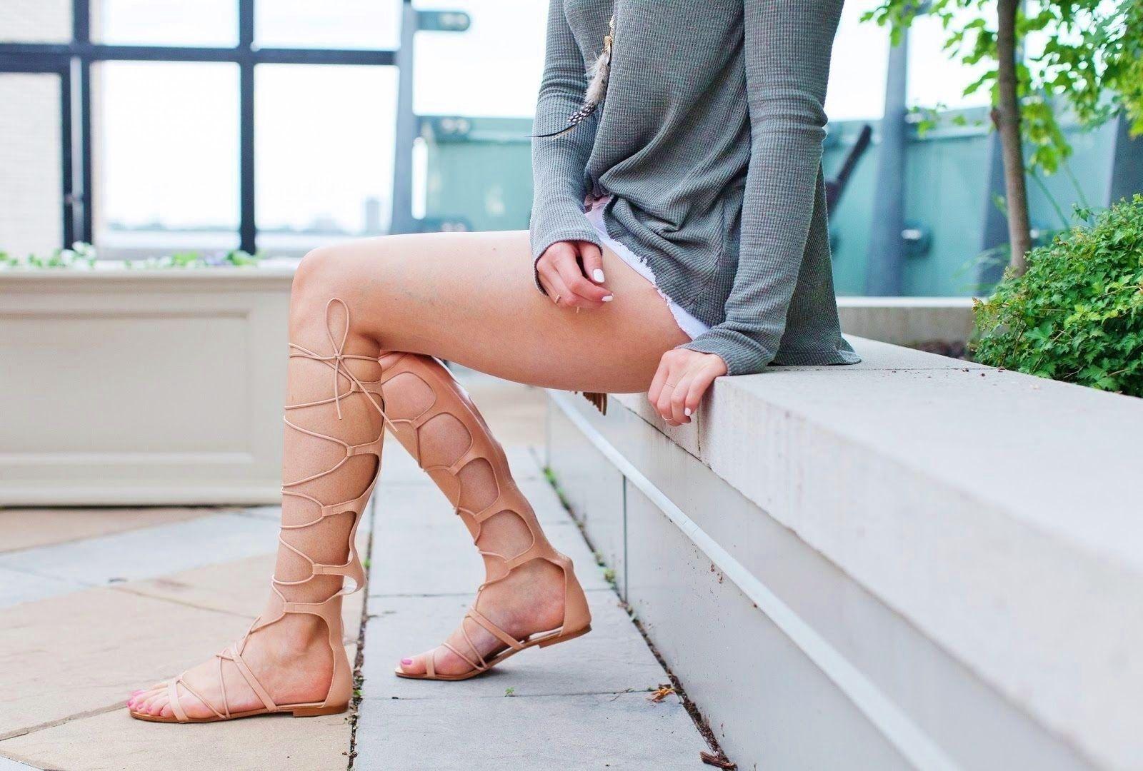 Los zapatos más populares para hombres y mujeres Descuento por tiempo limitado Zara Piel Carne Gladiador Romano Sandalias Números RU 3 4 5 7