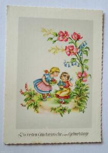 Geburtstag, Kinder, Mode, Blumen, 1950 ♥ (21682)