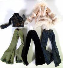 MGA BRATZ DOLL LOT OF 5 JACKETS AND PANTS #22