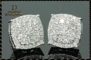 1-Pair-Women-Lady-925-Silver-White-Sapphire-Ear-Stud-Hook-Dangle-Bride-Earrings