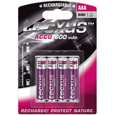 4x AAA Akkus Accus Micro 1,2V 600 mAh NiMH Tecxus f. Gigaset S810 S820 A540 A580