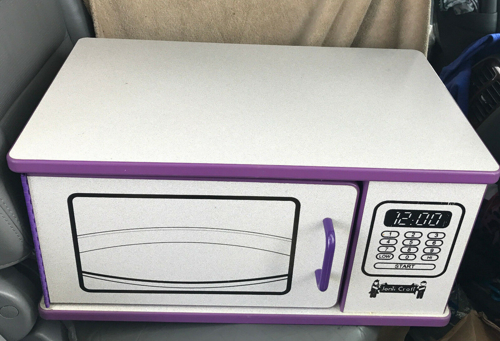 Jonti-Craft Rainbow Accents Kitchen Playtime Microwave Purple