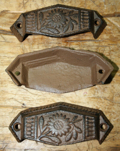 Barn Handle 12 Cast Iron Antique Victorian Style OVAL Drawer Pull Door Handles