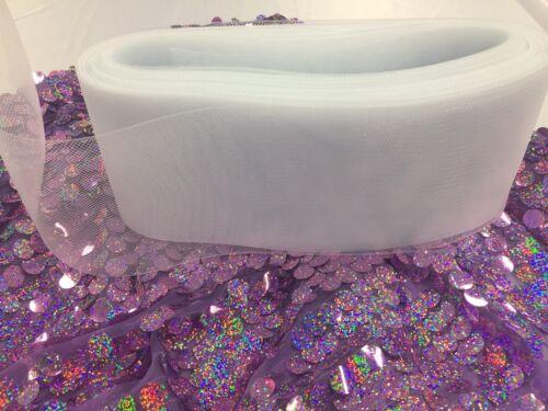 Crinoline Horsehair Braid Trim-wedding-Prom-decorations.White 10 yard 6 inches.