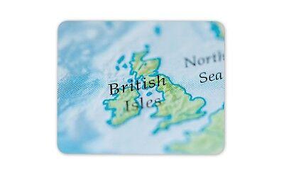 Eccentrico Isole Britanniche Mappa Tela Tappetino Mouse Pad-atlas Os Computer Regalo #16078-