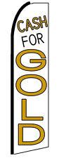 Cash For Gold Flag Flutter Feather Banner Swooper