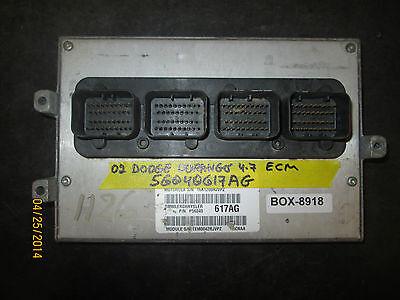 02 Dodge Durango 4.7 Ecm #56040617ag * See Articolo Descrizione* Aspetto Estetico