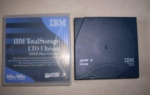 24R1922 LOT OF 10 IBM Ultrium LTO3 Data Cartridge