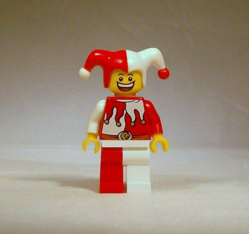 LEGO Castle Court Jester Minifigure 7953 Dual Sided Head Red /& White Genuine