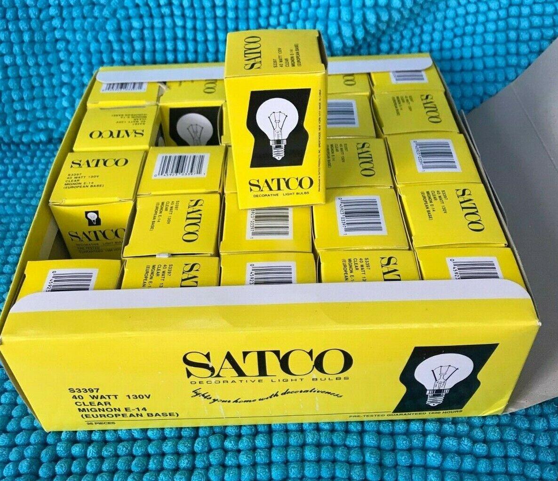 SATCO DECORATIVE LIGHT BULB ~  S3397 ~ 40 WATT~130V ~ MIGNON E-14 ~ EURO BASE