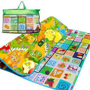 200X180CM-Kids-crawling-2-Side-PLAY-MAT-gioco-educativo-in-schiuma-morbida-Picnic-Tappeto