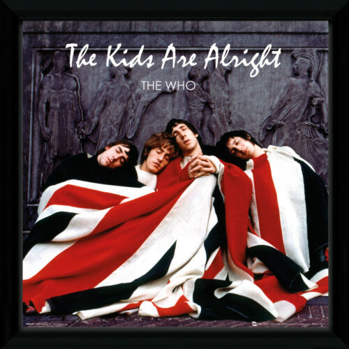 The Who The Kids Are Alright Rock Framed Album Cover Vinyl Poster 30.5x30.5cm