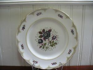 Image is loading Tuscan-Fine-English-Bone-China-Midnight-Rose-8- & Tuscan Fine English Bone China Midnight Rose 8.25