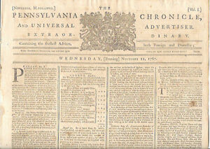Details about Pennsylvania Chronicle Newspaper American Revolutionary War  Colonial Boston