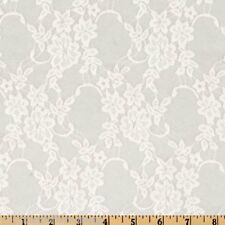 Floral Lace Fabric By The Yard White Sewing Stretch