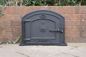 Image is loading 58-5-x-43-cm-cast-iron-fire- & 58.5 x 43 cm cast iron fire door clay bread oven doors pizza stove ...