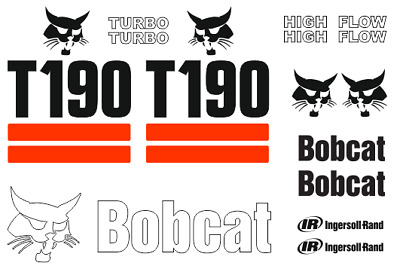 (ORIGINAL LOOK) BOBCAT T190 FULL DECAL STICKER SET KIT SKID STEER RS98    eBay